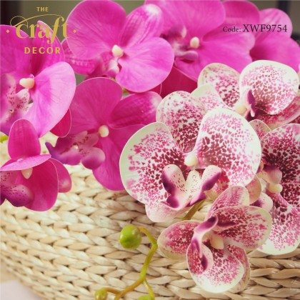 9 Heads 3D Latex Butterfly Orchid