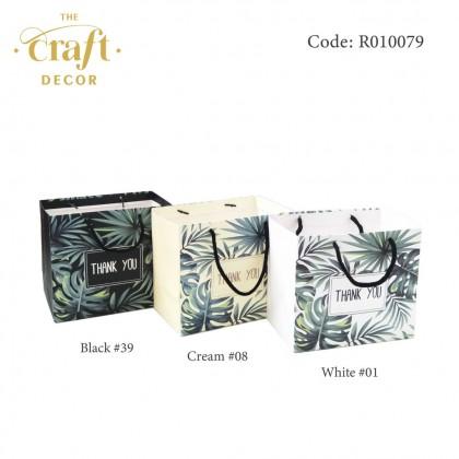 10pcs 18x11x16cm Tropical Leaves Paper Bag