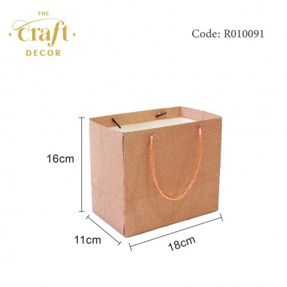 10pcs 18x11x16cm Glitter Paper Bag