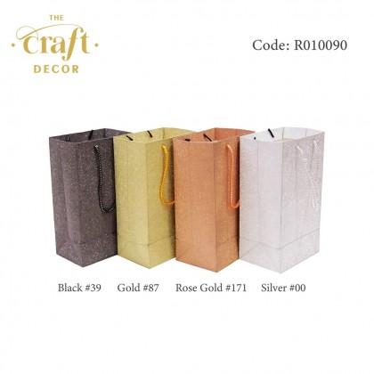 10pcs 12.5x8.5x22cm Glitter Paper Bag