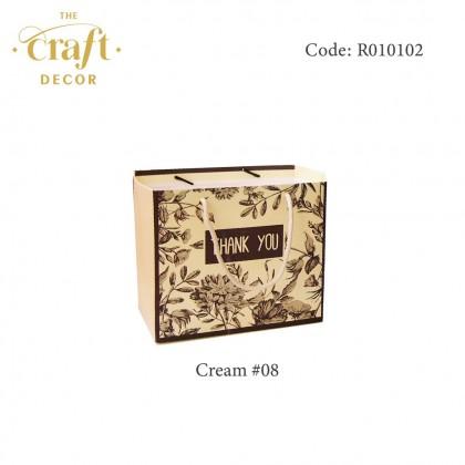 10pcs 16x11x18cm Floral Pattern Goodies Paper Bag
