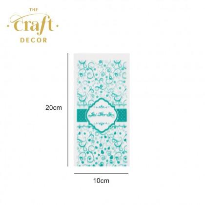 100pcs Transparent Plastic Bag with Twist Tie