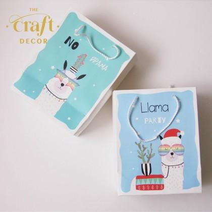 12pcs Llama Design Paper Gift Bag(L)