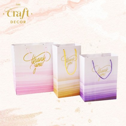 10pcs Gradient Goodies Paper Bag
