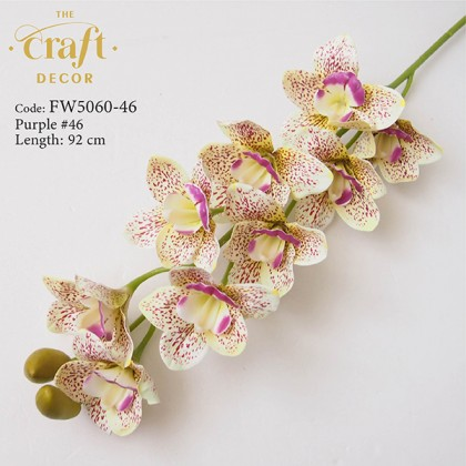 9 Heads 3D Latex Cymbidium Orchid