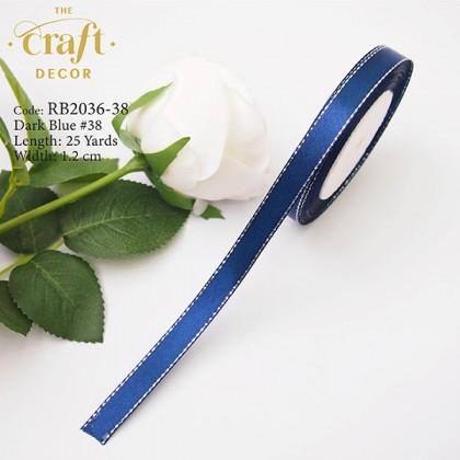1.2cmx25Yards Satin Ribbon With Line