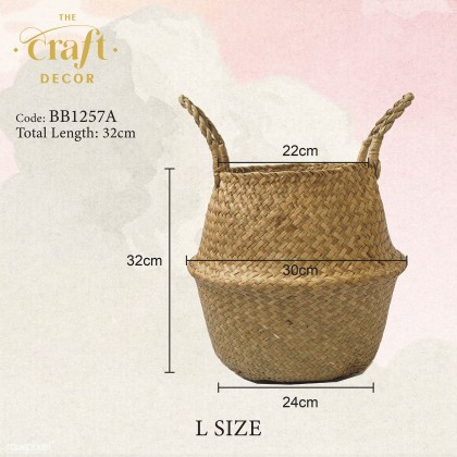 Natural Seagrass Foldable Basket