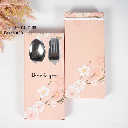 12set Floral Design Spoon & Fork Door Gift