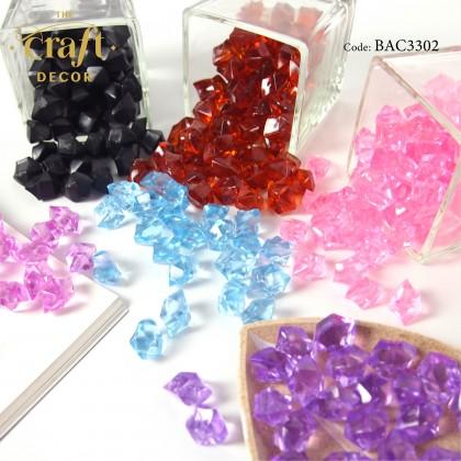 100pcs+- Plastic Acrylic Irregular Crystal Stone