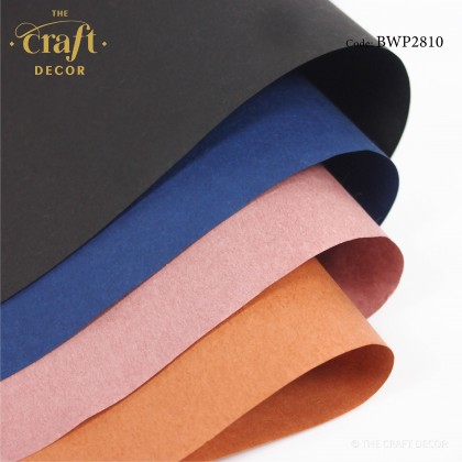 15Sheets Waterproof Solid Color Kraft Wrapping Paper