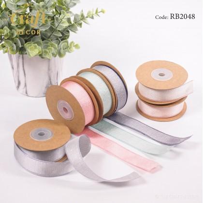 10Yards Glitter Color Edge Ribbon