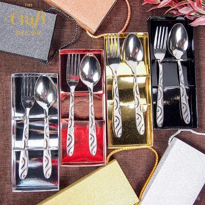 12set Glitter Spoon & Fork Door Gift