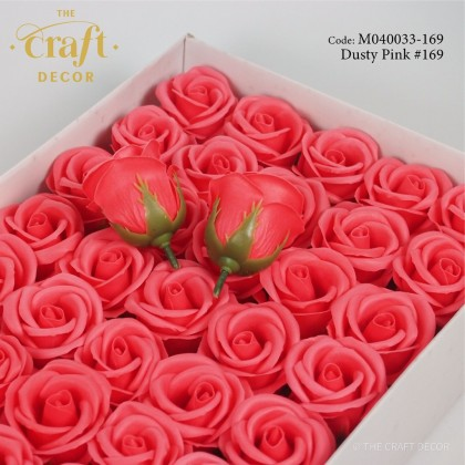 1pc 3 Layers Rose Soap Flower Head With Base Bare