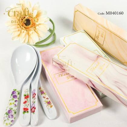 10pcs Rice Spoon Marble Design Door Gift