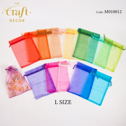 50pcs 13x18cm Organza Door gift Bag