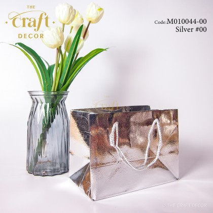 10pcs Glitter Glossy Paper Gift Bag With Rope Handle