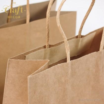 10pcs Brown Craft Paper Bag